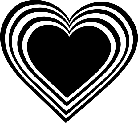 Hearts black and white clipart svg freeuse Free black and white heart clipart - ClipartFest svg freeuse