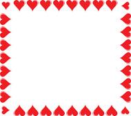Hearts border clip art clip black and white download Heart Border Clip Art | Clipart Panda - Free Clipart Images clip black and white download
