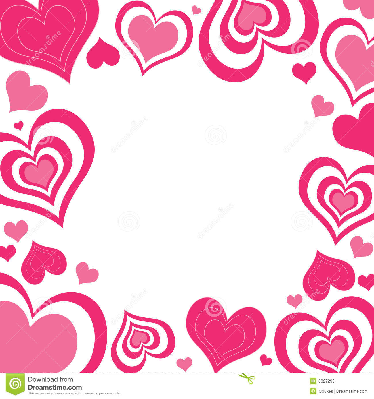 Hearts border clip art vector free library Valentine Border Clipart - Clipart Kid vector free library