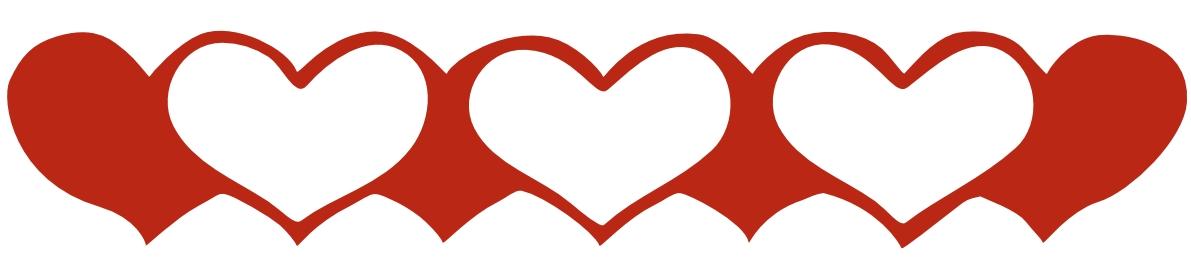 Hearts border clip art freeuse library Heart Border Clipart - Clipart Kid freeuse library