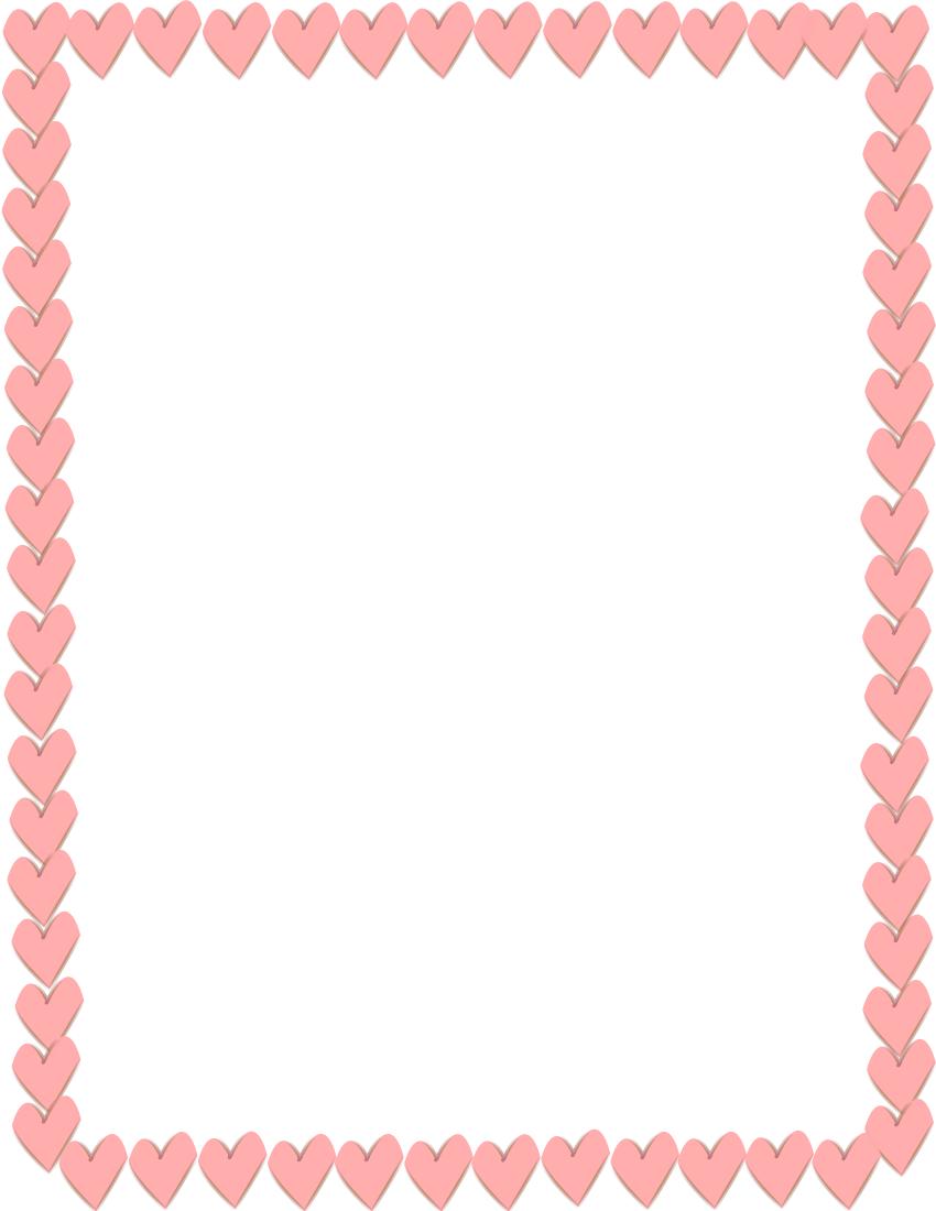 Hearts border clip art clip stock Valentine Border Clipart - Clipart Kid clip stock