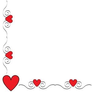 Hearts border clip art clip royalty free Free clipart heart border - ClipartFest clip royalty free