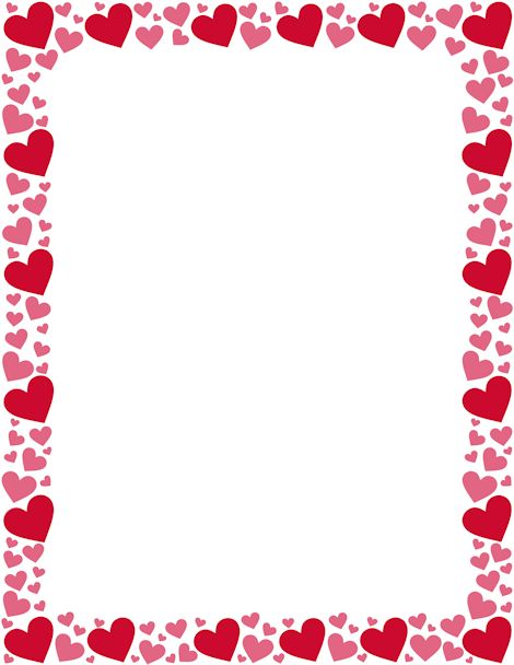 Hearts border clip art free png black and white download Printable red and pink heart border. Free GIF, JPG, PDF, and PNG ... png black and white download