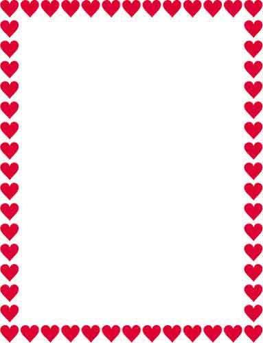 Hearts border clip art free clipart black and white library 17 Best images about heart borders on Pinterest | Clip art, Pink ... clipart black and white library
