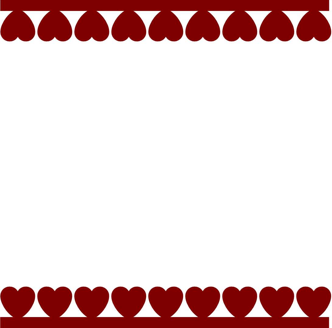 Hearts border clip art free svg free stock Free clipart heart border - ClipartFest svg free stock