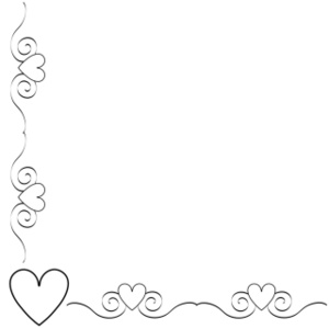 Hearts border clip art free vector transparent stock Heart Border Clipart Image: Black and white heart border ... vector transparent stock