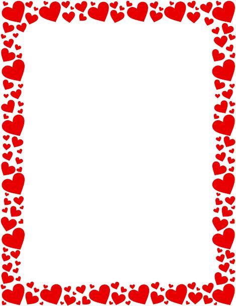 Hearts border clip art free royalty free library Printable red heart border. Free GIF, JPG, PDF, and PNG downloads ... royalty free library