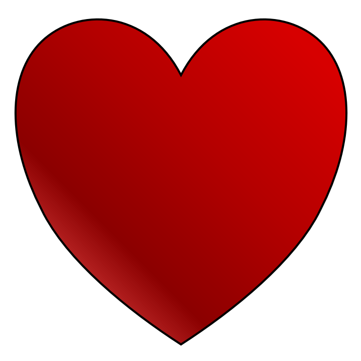 Organ heart clipart png black and white download Clip Art Red Heart | Clipart Panda - Free Clipart Images png black and white download
