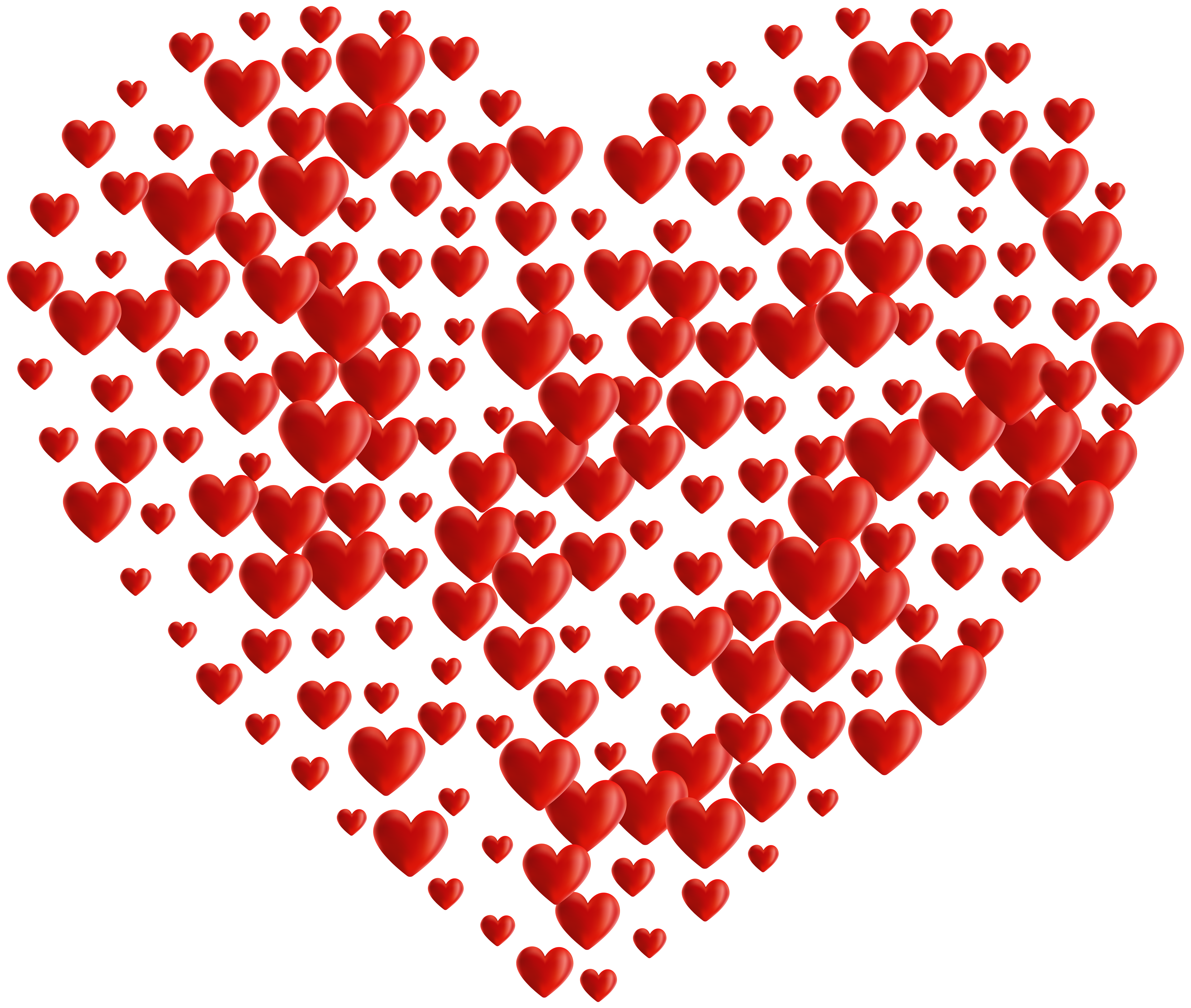Heart pattern clipart banner royalty free library Heart of Hearts Transparent PNG Clip Art | Gallery Yopriceville ... banner royalty free library