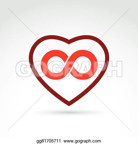 Hearts symbol forever love clipart image freeuse Clip Art Vector - Vector infinity icon, eternal life idea ... image freeuse