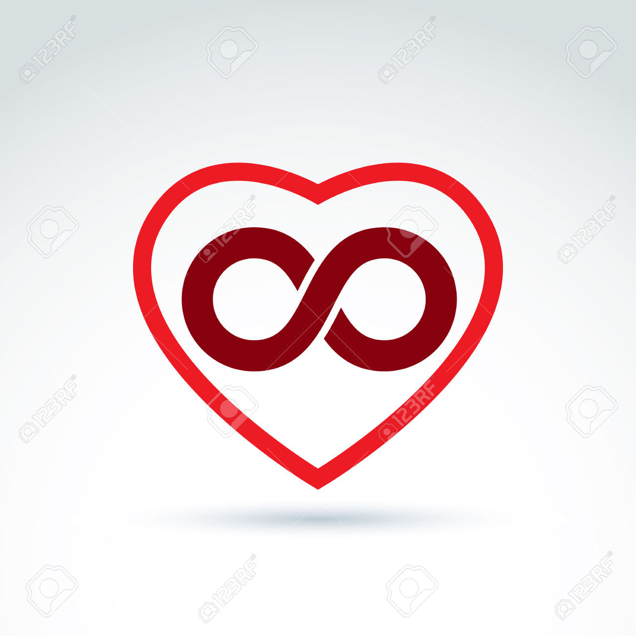 Hearts symbol forever love clipart png freeuse library Vector Infinity Icon, Eternal Life Idea. Illustration Of An ... png freeuse library