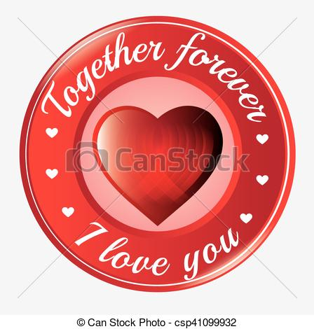 Hearts symbol forever love clipart clip royalty free stock Vectors of together forever i love you heart symbol icon vector ... clip royalty free stock