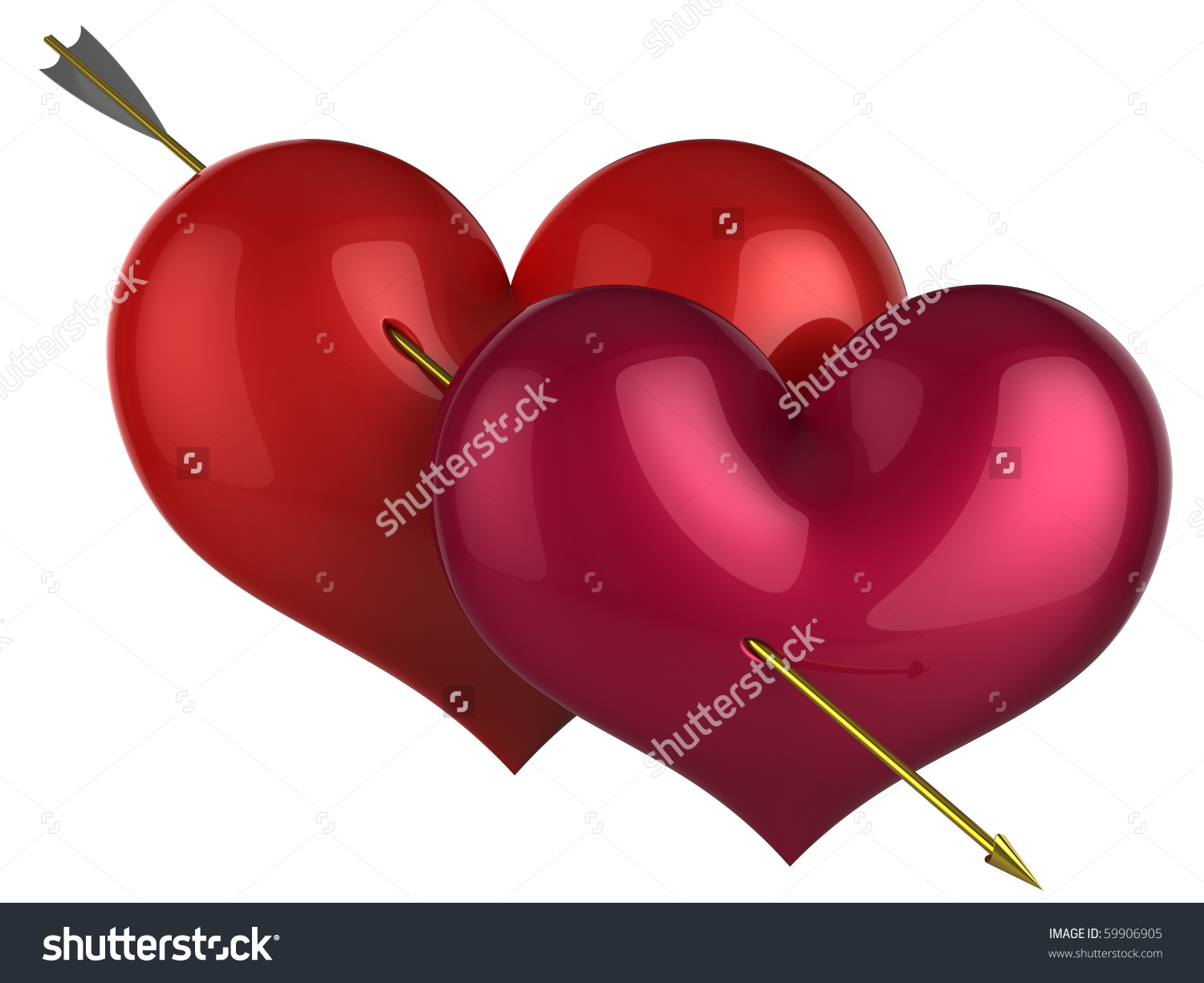 Hearts symbol forever love clipart free download Heart Shapes Couple Forever Love Red Stock Illustration 59906905 ... free download