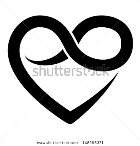Hearts symbol forever love clipart clipart freeuse Vector Images, Illustrations and Cliparts: Infinity heart symbol ... clipart freeuse