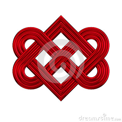 Hearts symbol forever love clipart jpg freeuse download Golden Interlocking Heart Knot Symbol Stock Illustration - Image ... jpg freeuse download