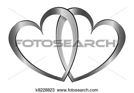 Hearts symbol forever love clipart svg library Drawing of Forever love. k8228823 - Search Clipart, Illustration ... svg library