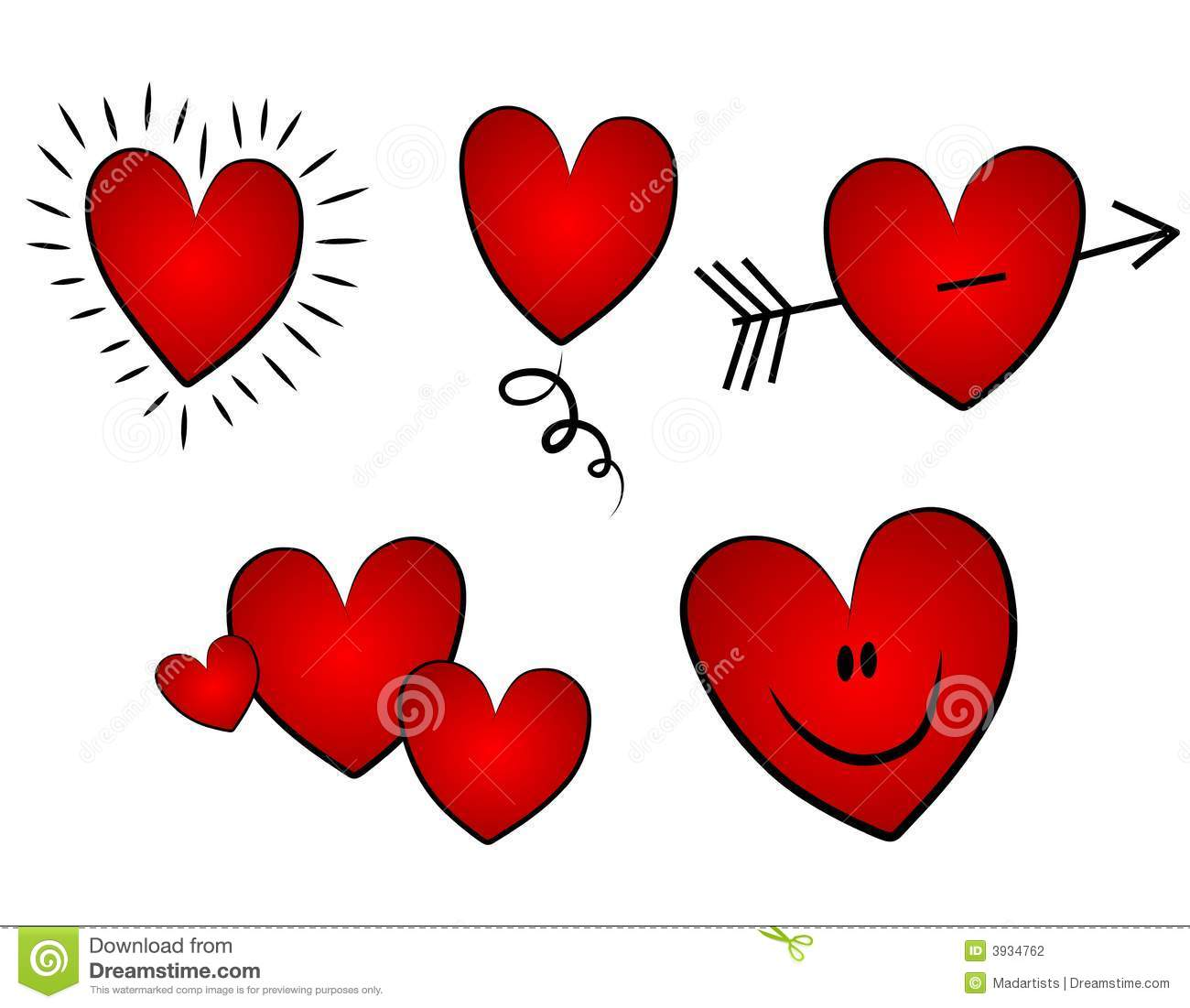 Hearts valentines day clipart clip royalty free stock Various Valentine's Day Clip Art Hearts Stock Photography - Image ... clip royalty free stock