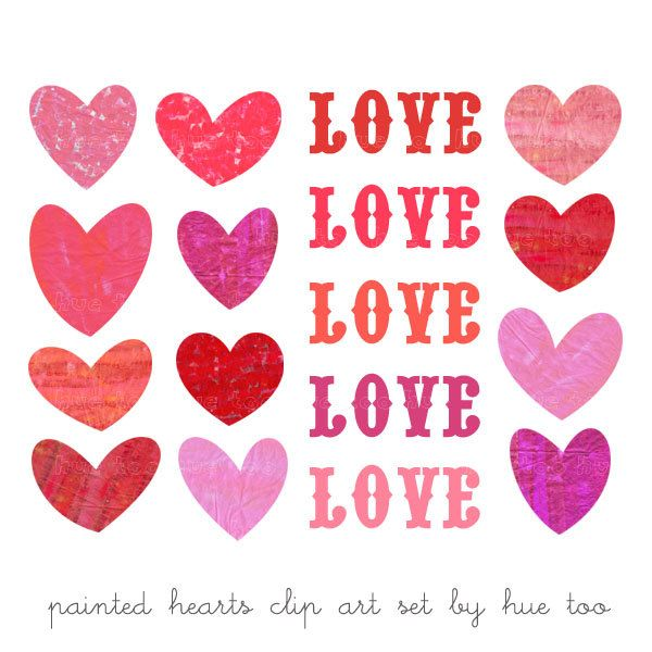 Hearts valentines day clipart graphic freeuse download Valentine's Day Hearts Clipart - Clipart Kid graphic freeuse download