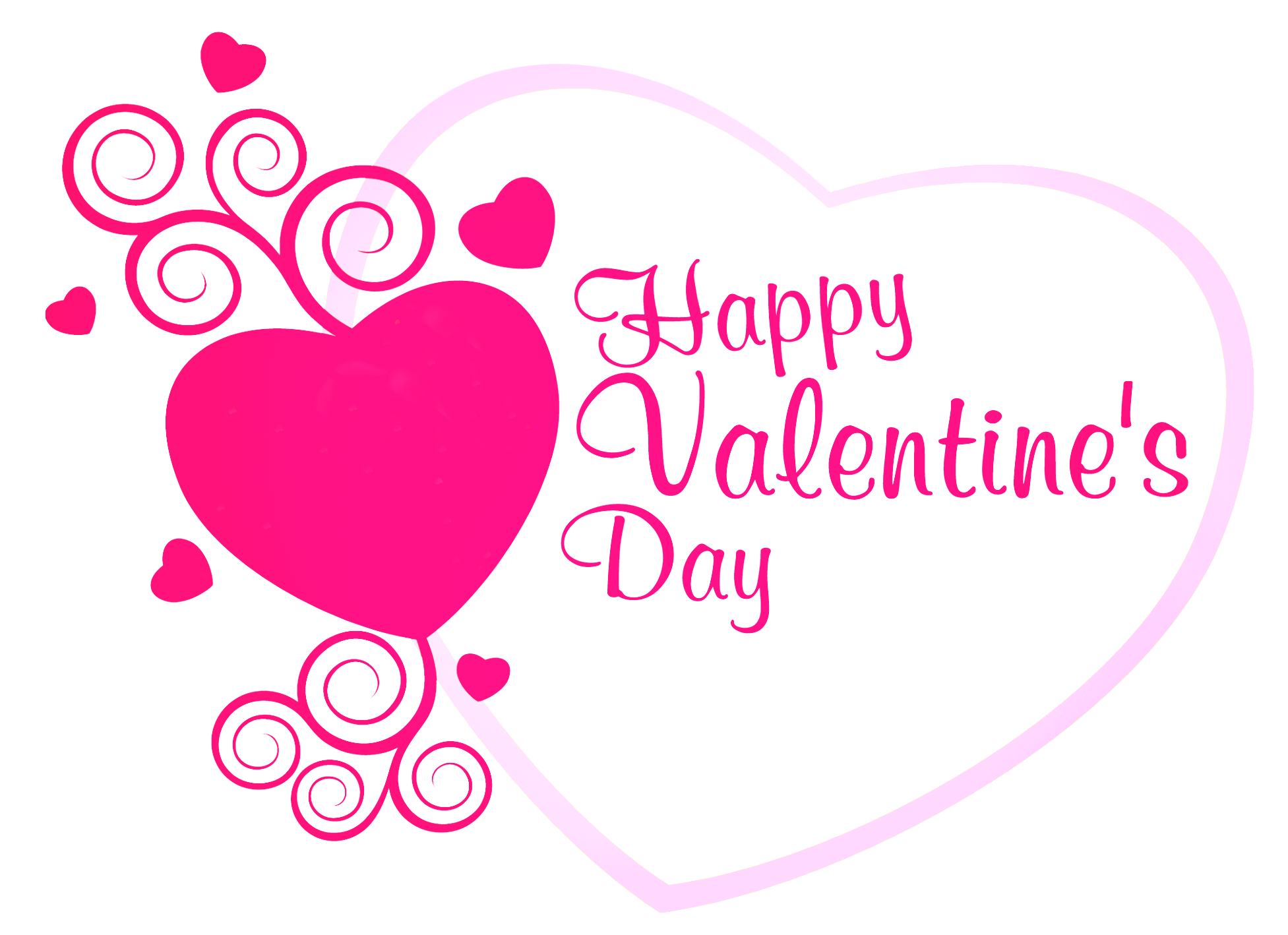 Valentine day clipart free svg free Happy Valentines Pink Heart Decor PNG Picture | Valentines Day ... svg free