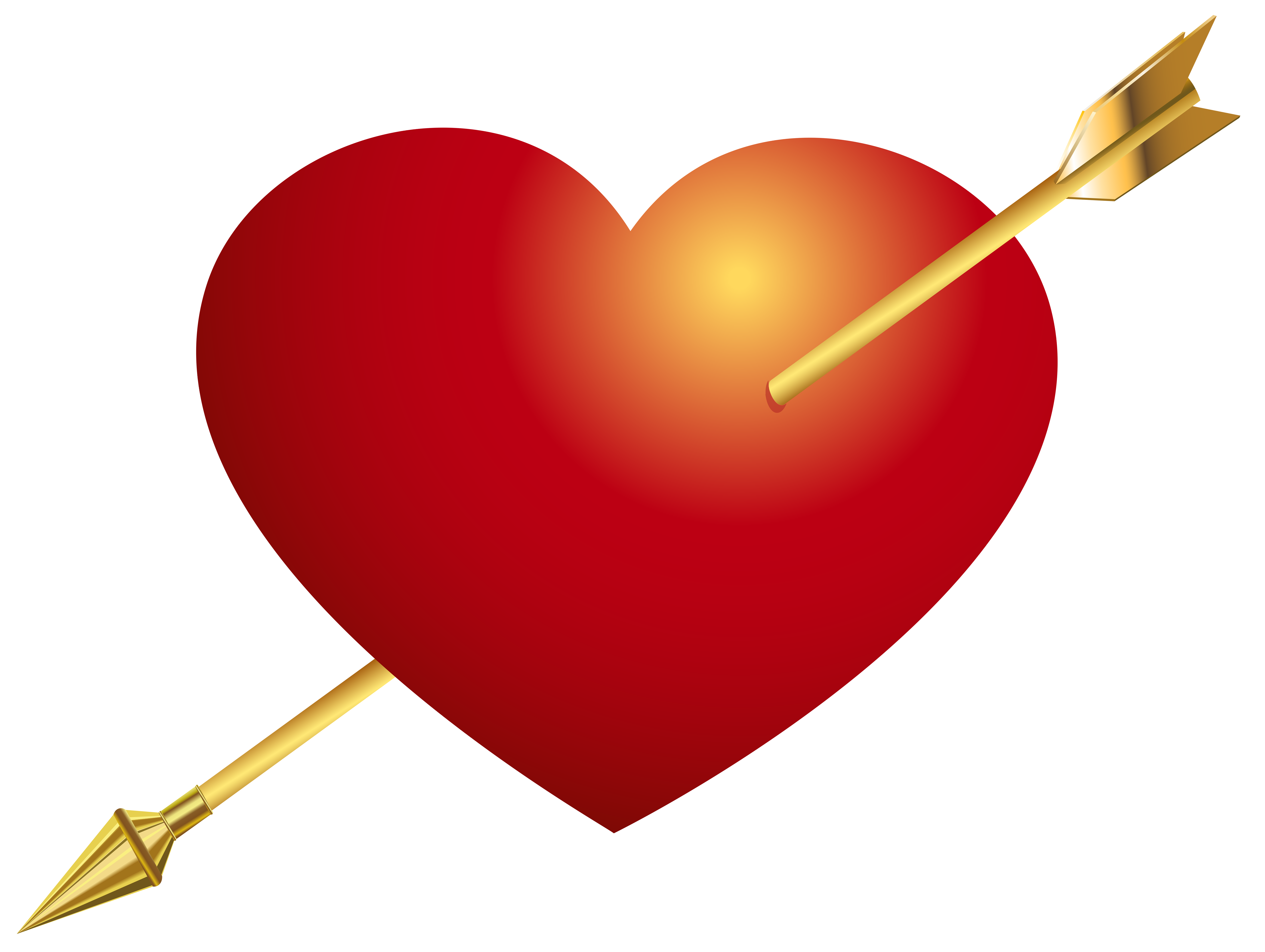 Red Heart with Arrow PNG Clip Art Image clip transparent stock