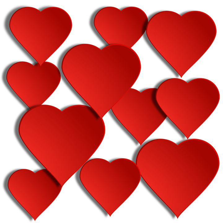 Hearts with shadow background clipart image freeuse stock Heart, Background - Free images on Pixabay image freeuse stock