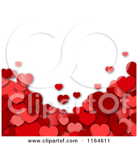 Hearts with shadow background clipart graphic library stock Clipart of a Shiny Red Heart with a Wavy Red Banner and Shadow ... graphic library stock