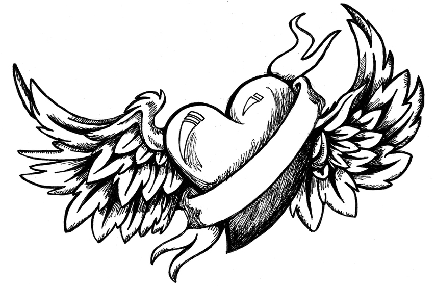 Hearts with wings and roses clipart svg free Drawings Of Hearts And Wings - ClipArt Best svg free