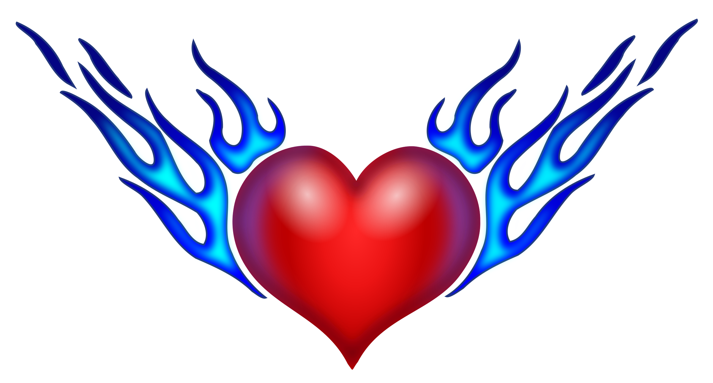 Heart with wings and halo clipart clip download Heart On Fire Drawing at GetDrawings.com | Free for personal use ... clip download