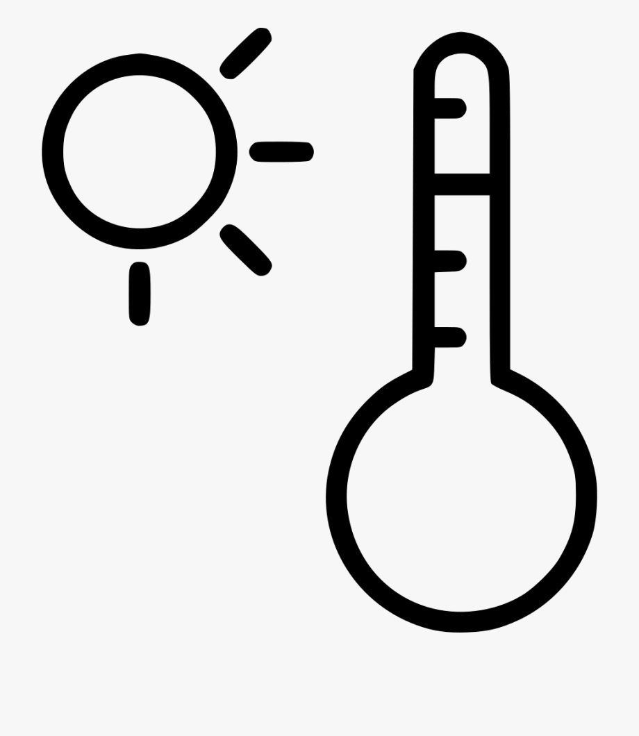 Heat black and white clipart jpg download Heat Clipart Ray - Hot Weather Thermometer Clipart Black And ... jpg download
