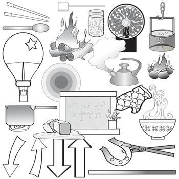 Heat black and white clipart banner library download Heat Transfer Clip Art Set - Physical Science Clipart banner library download