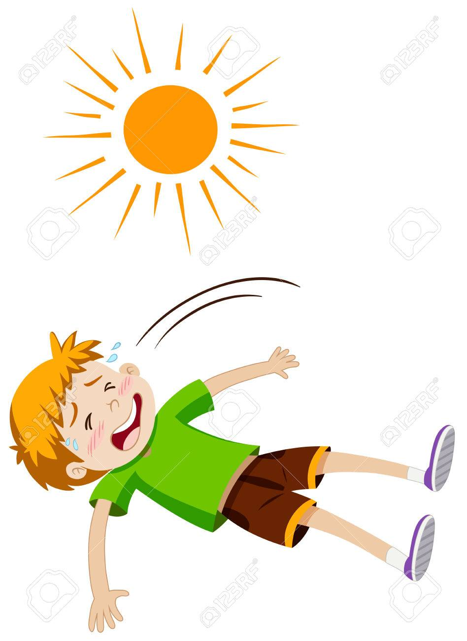 Heat stress clipart picture download Boy feeling ill from heat stroke » Clipart Station picture download