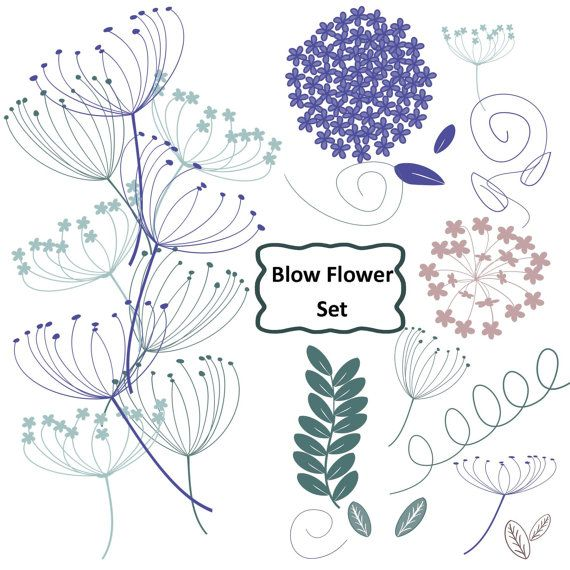 Heather clipart clipart royalty free Wedding Blow Flowers and Hydrangea Clip Art in Heather ... clipart royalty free