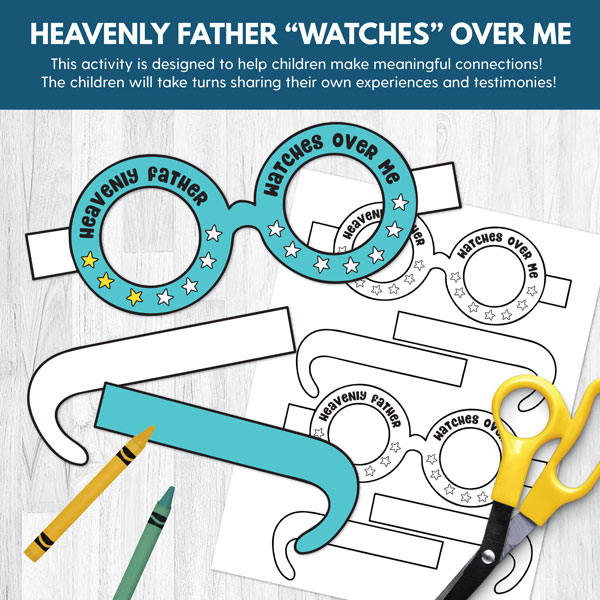 Heavenly father watches over me lds clipart svg download Primary 2 COMBO (CTR): Lessons 5-8 svg download