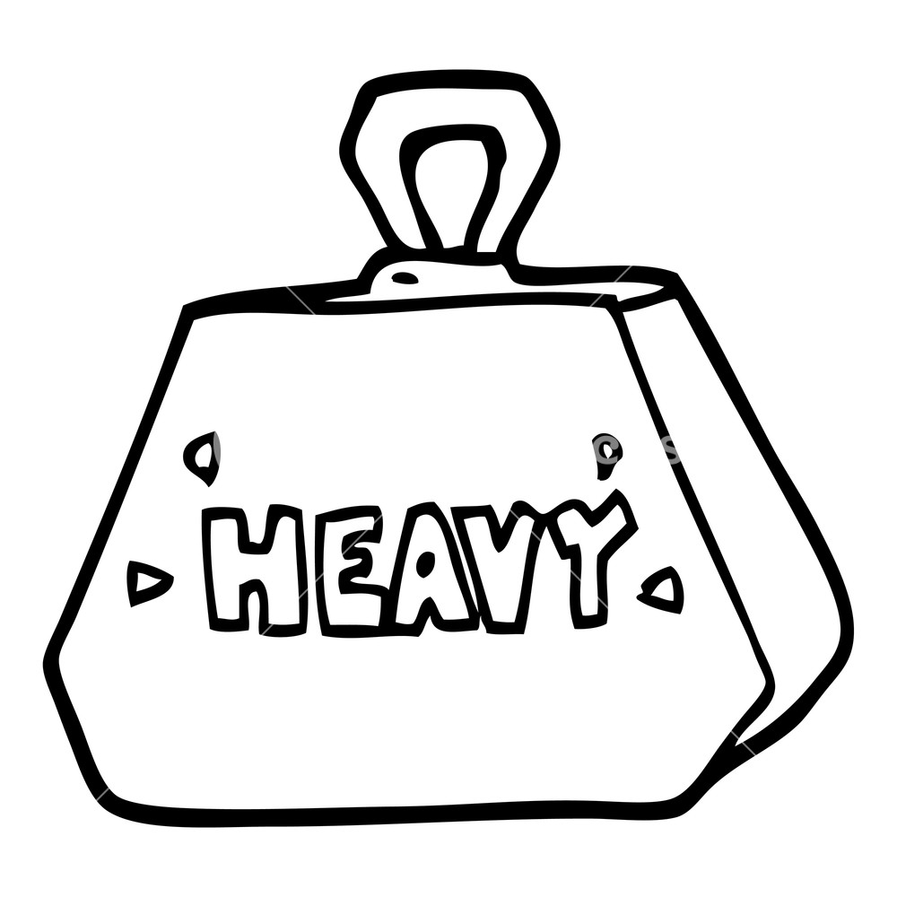 Heavy lift cartoon black and white clipart png black and white cartoon heavy weight Royalty-Free Stock ... png