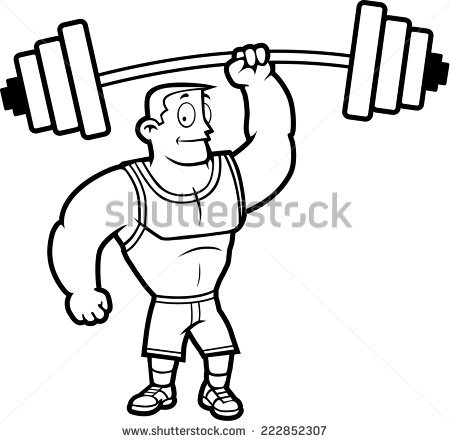 Heavy lifting clipart girl black and white svg freeuse library Weight Lifting Cartoon Group with 82+ items svg freeuse library