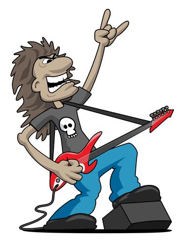 Heavy metal guitar clipart vector freeuse Heavy Metal Rock Guitarist Cartoon Vector Illustration ... vector freeuse