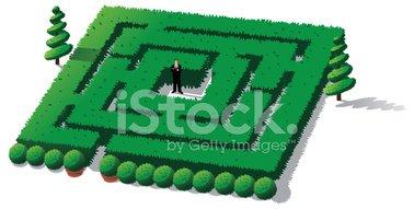 Hedge maze clipart jpg transparent download Businessman Stuck IN Hedge Maze stock vectors - Clipart.me jpg transparent download