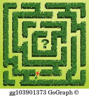 Hedge maze clipart clip art freeuse download Garden Maze Clip Art - Royalty Free - GoGraph clip art freeuse download
