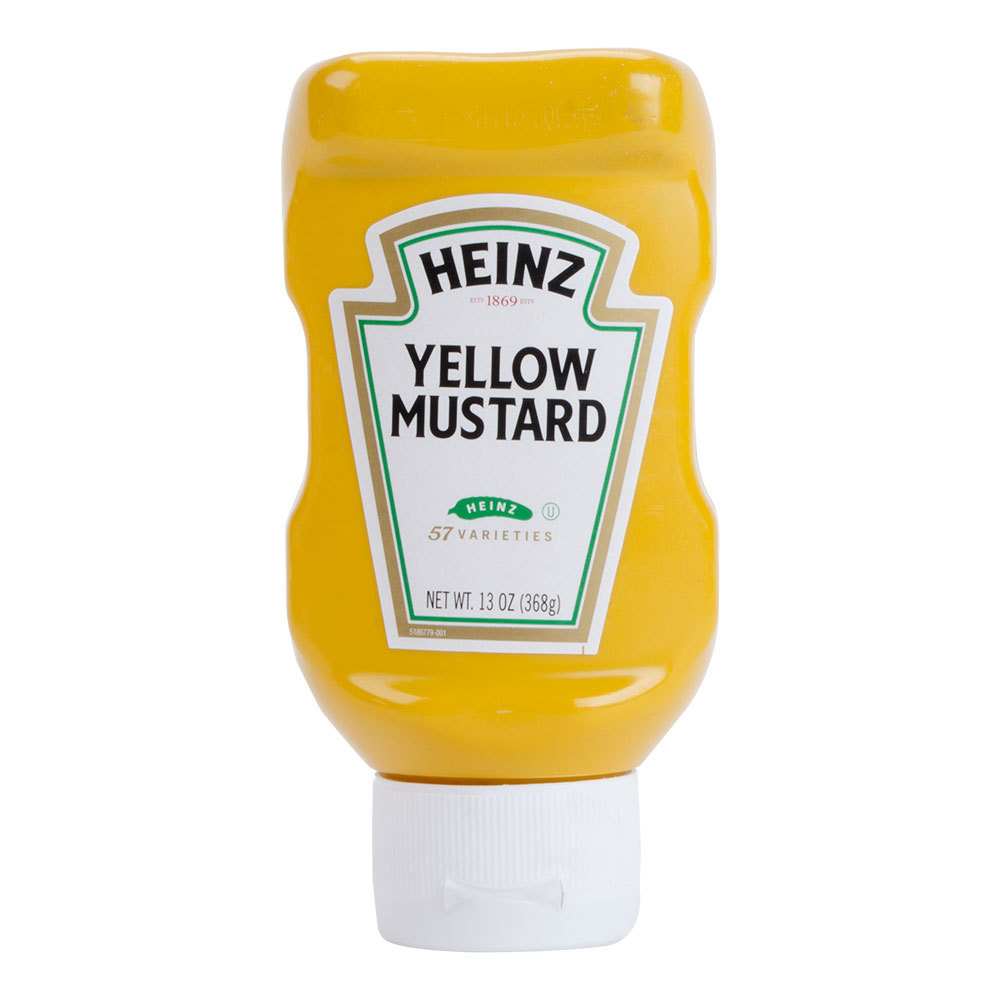 Heinz mustard clipart image library library Yellow Mustard Squeezable 13oz/bottle (16 bottles per carton) image library library