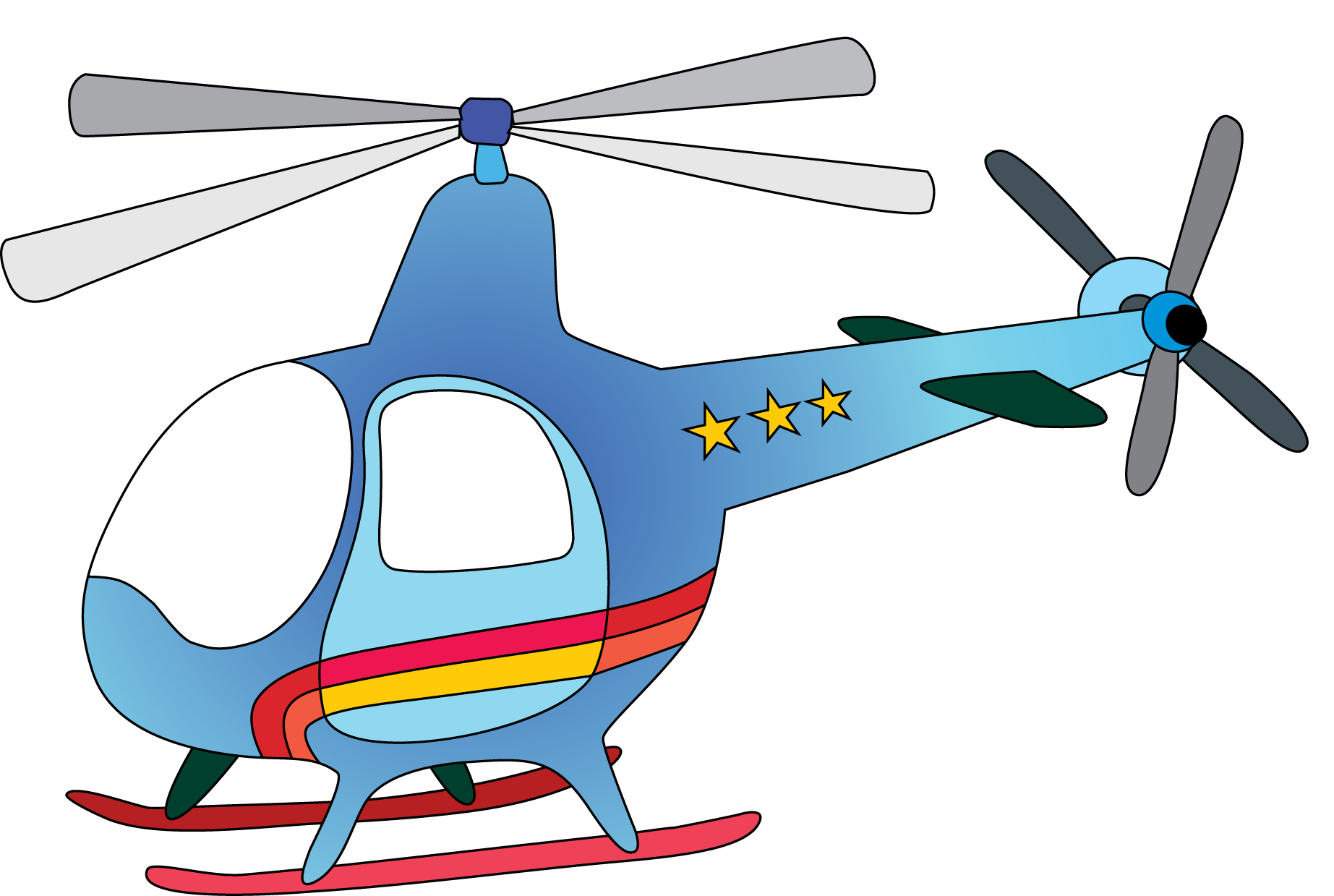 Helicopter clipart image banner black and white Cute Airplane Clip Art   have about files nov ... banner black and white