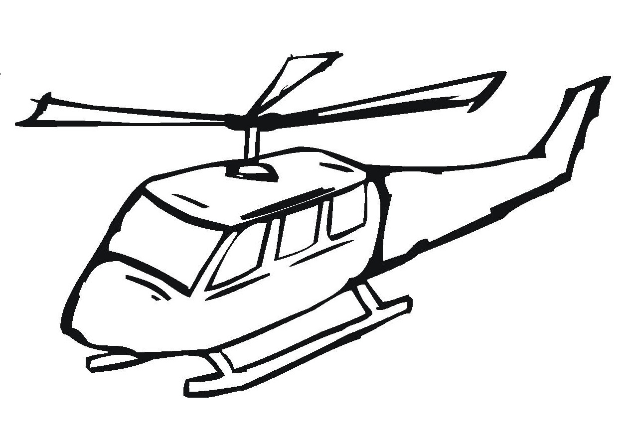 Helicopter clipart to color in freeuse download Free Printable Helicopter Coloring Pages For Kids freeuse download