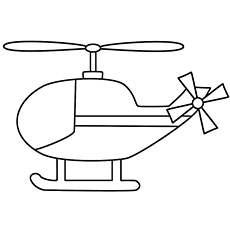 Helicopter clipart to color in png black and white library Helicopter Coloring Pages - Free Printable for Kids png black and white library