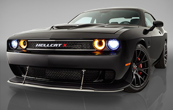 Hellcat car image black and white stock Win the 2015 Dodge Challenger SRT Hellcat X image black and white stock