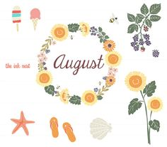 Hello august clipart banner free library August on hello august august baby and hello september ... banner free library