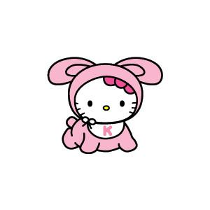 Hello kitty baby clipart