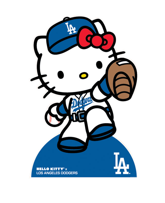 Hello kitty baseball clipart clipart free Los Angeles Dodgers on | Pinterest | Hello kitty, Kitty and Dodgers clipart free