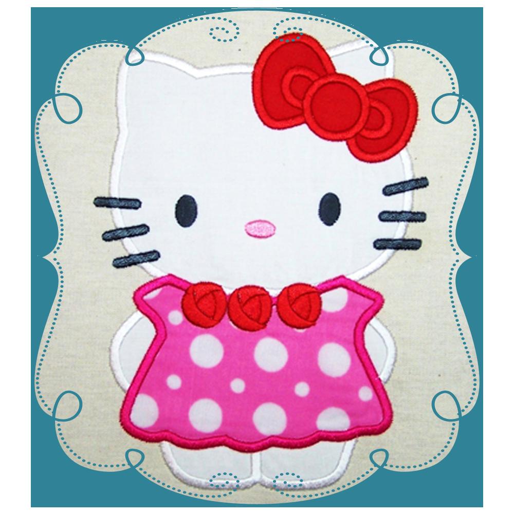 Hello kitty christmas clipart clipart transparent stock Hello Kitty Applique clipart transparent stock