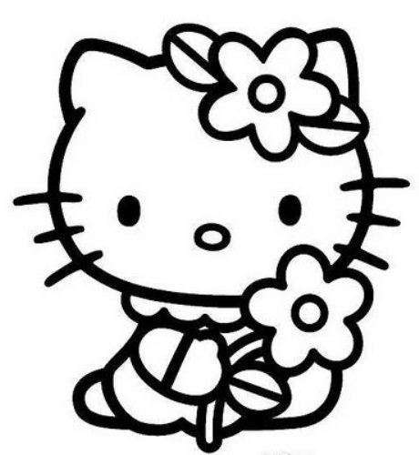 Hello kitty clipart black and white free download Hello kitty black and white free clipart - WikiClipArt free download