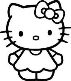 Hello kitty clipart black and white png free download hello kitty black and white cute | Hello kitty | Hello kitty ... png free download