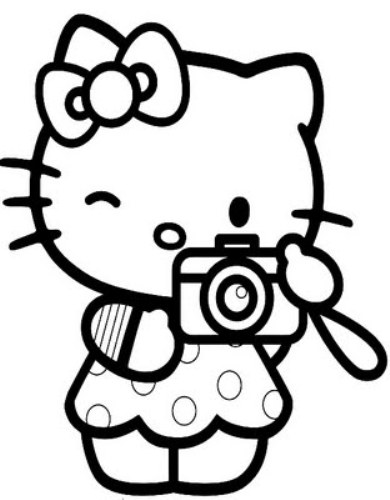 Hello kitty clipart black and white black and white stock Hello kitty clip art images cartoon image 2 - WikiClipArt black and white stock